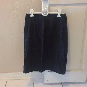 Dresses & Skirts - Black SUEDE skirt